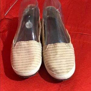 Reef Kaki Striped Ballet Flats New